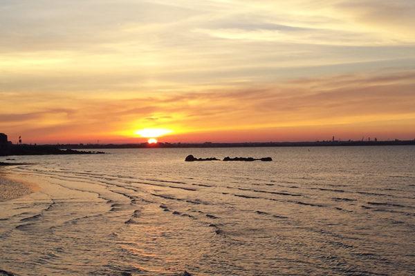 Dublin-bay-at-sunset